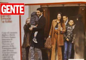 Gigi Buffon e Ilaria D'amico vacanze in montagna in famiglia in Toscana