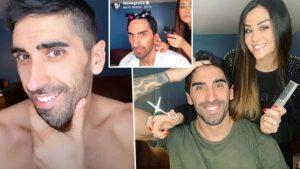 Giorgia Palmas nei panni di barbiere a casa per Filippo Magn
